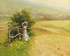 Blog of an Art Admirer: Landscape Painting by Laszlo Neogrady (1900-1962) Hungarian Artist