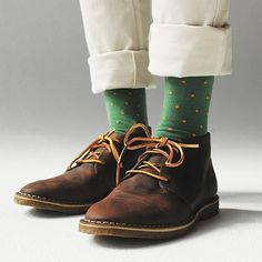 The Best Men's Shoes And Footwear : Richer Poorer – Polka Dots Socks – Green :: Maxton Men -Read More – Best Shoes For Men, Men S Shoes, Sock Shoes, Shoe Boots, Stylish Men, Men Casual, Polka Dot Socks, Polka Dots, Gents Fashion