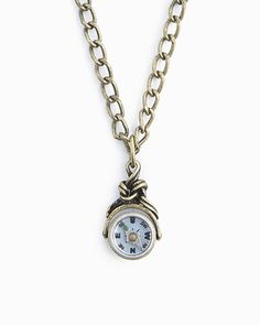 Tick tock watch clock necklace