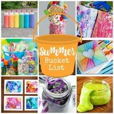 Here's a huge summer bucket list of ideas of fun things to do with kids during the summer. Keep those kids busy with crafts, games, food and fun!