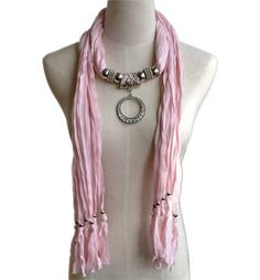 Wholesale Scarves with Jewelry dont care for this one in particular but I like the concept...