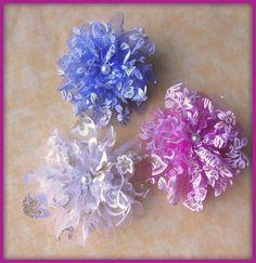 Fleurs organza mixte paillettes doré perle verre mariage : Déco, Customisation Textile par orkan28