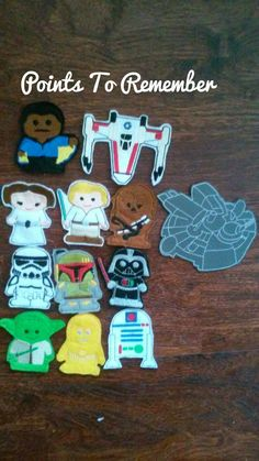Eleven star wars finger puppets. You get all pictured and the falcon carrying case. Something that all star wars fans need young and old alike.