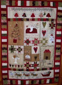 Christmas fun mini quilt.