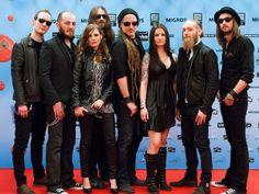 Eluveitie - Swiss Music Awards 2014 Ivo,Kay,Nicole,Pade,Chrigel,Anna,Merlin and Rafael