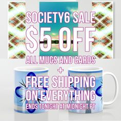 PROMO SCHEDULE & INFORMATION   11/18: 24 HR Only $5 Off All Mugs and Cards Free Shipping on Everything Starts at 12:00 AM PT Ends at 11:59 PM PT  ❤
