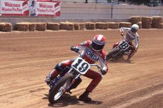 Indy Mile - Freddie Spencer #19 and Terry Poovey #18