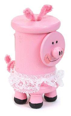 Nicole Crafts Spool Piggy #kids #craft