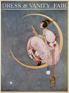 Vanity Fair cover October 1913 Vanity Fair launched as Dress & Vanity Fair for first four issues. Vintage Prints, Vintage Posters, Vintage Art, Vanity Fair Magazine, Magazine Art, Magazine Covers, Fashion Illustration Vintage, Art And Illustration, Girl Illustrations