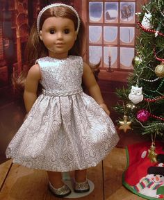 Silver Sparkle Dress Headband and Shoes for by MyGirlClothingCo