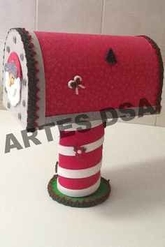 *** ARTES DSA ***: Caixa de Correio de Papai Noel em EVA
