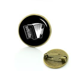 Vintage musical instrument brooches gibson guitar accordion phonograph violin Tromba drum silhouette musician pins badge T696 #Affiliate