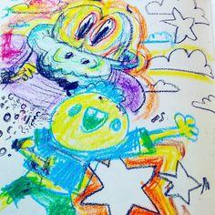 Bearbrains Generations. .  #illustration #drawing #sketchbook #kidsart #crayons #rainbow July 10 2017 at 10:24AM
