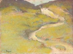 Edgar Degas (1834 - 1917)-Pathway in a Field, 1890, monoprint