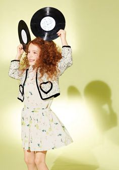 Sweet heart pocket cropped jacket from Marie-Chantal for spring 2015 childrenswear