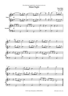 Silent Night, Holy Night: Piano Duet sheet music notes by Christmas: Piano Duet Christmas Duets, Piano Classes, Music Lessons, Piano Lessons, Christmas Sheet Music, Music Score, Piano Sheet Music, Music Sheets, Music Classroom