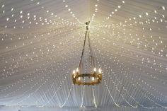 Fairy lights / Sarah & Paul's French Fairytale Wedding / LANE