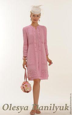 """Комплект """"Розовое облако"""" - розовый костюм,розовый комплект,вязаный крючком костюм"""