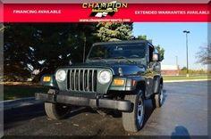 eBay: 2004 Jeep Wrangler X 2004 Jeep Wrangler X 96108 Miles Electric lime green Sport Utility Straight 6 Cy #jeep #jeeplife