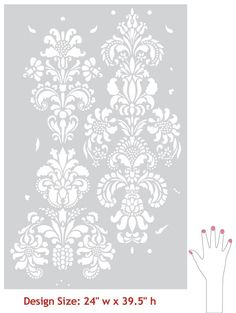 Damask Stencil, wall decor