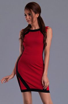 EMAMODA DRESS - RED 9410-2