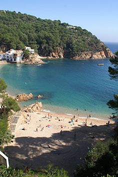 A hidden paradise Tamariu, Costa Brava,Spain Places Around The World, Oh The Places You'll Go, Places To Travel, Travel Destinations, Around The Worlds, Beautiful Places To Visit, Beautiful Beaches, Valence, Holiday Places