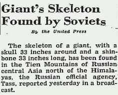 Nephilim Chronicles: Giant Human Skeletons: Ancient Race of Giant Humans Discovered by Russians