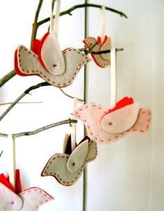 New Purl Soho Kit: Felt Bird Ornaments! - Knitting Crochet Sewing Crafts Patterns and Ideas! - the purl bee