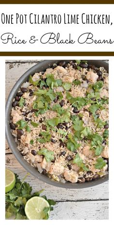 One Pot Cilantro Lime Chicken, Rice, MealsWithMinute, ad, One … Rice Recipes, Casserole Recipes, Great Recipes, Chicken Recipes, Dinner Recipes, Chicken Meals, Healthy Recipes, Amazing Recipes, Delicious Recipes