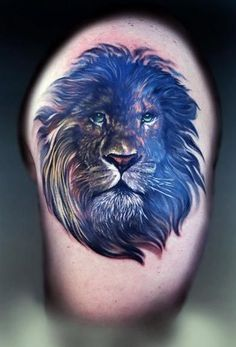 Lion tattoo, aka leo tattoo, is one of the most popular among animal tattoos. People love lion tattoos not only for its cool appearance but also for its Lion Back Tattoo, Lion Shoulder Tattoo, Tribal Lion Tattoo, Mens Lion Tattoo, Lion Tattoo Design, Tattoo Designs Men, Leo Tattoos, Badass Tattoos, Animal Tattoos
