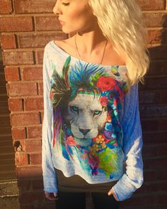 King of Lions Flowy Off Shoulder