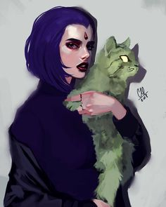 Raven and the cat ❤️