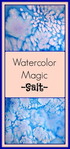 Watercolor + Salt = MAGIC! Get all the details at Fairy Dust Teaching.