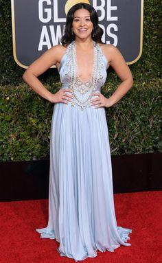 Gina Rodriguez In Reem Acra   2019 Golden Globe Awards - Fashionsizzle Red  Carpet Ready c06c137ed