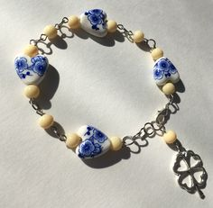 A personal favorite from my Etsy shop https://www.etsy.com/ca/listing/470121692/4-leaf-clover-lucky-charm-bracelet-with