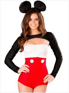 Sexy Adult Miss Mouse Costume | Womenu0027s Sexy Halloween Costumes | Pinterest | Mouse costume Costumes and Halloween costumes  sc 1 st  Pinterest & Sexy Adult Miss Mouse Costume | Womenu0027s Sexy Halloween Costumes ...