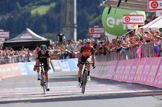 Vincenzo Nibali ha vinto la 16esima tappa (il tappone alpino con Cima Scarponi e Cima Coppi, la Tappa Regina) del Giro d'Italia del Centenario, la Rovetta-