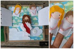 Bible quiet book, church busy book, handmade fabric Bible story, heaven