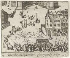 Begrafenis van Willem van Oranje, 1584, anoniem, Frans Hogenberg, 1613 - 1615