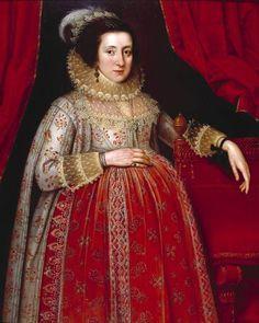 Marcus Gheeraerts II 'Portrait of a Woman in Red', 1620