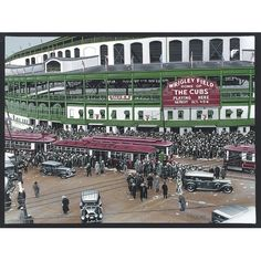 Found it at Wayfair - Wrigley Field Artwork by Darryl Vlasak Painting Print on Wrapped Canvas #buyartforless