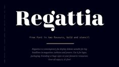 Regattia Font by Bruno Saez