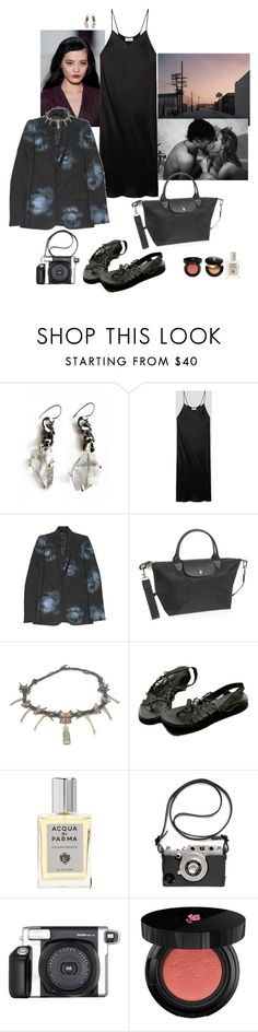 """""""casual walk after a busy day"""" by syarina ❤ liked on Polyvore featuring Unearthen, DKNY, Aloha Rag, Longchamp, Acqua di Parma, Fuji, Lancôme and Yves Saint Laurent"""