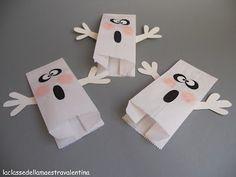 Paper Bag Ghost Puppets | Paper Bag Crafts | Pinterest