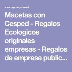 Macetas con Cesped - Regalos Ecologicos originales empresas - Regalos de empresa publicitarios; articulos promocionales y productos personalizados en Madrid