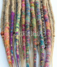 Tye Dye Clip in Dreadlocks by DAYOFTHEDREAD on Etsy