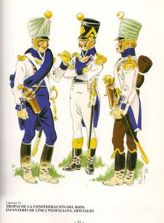 Westphalia; Line Infantry, Officers, on service in the Peninsula.