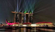 Singapore Sightseeing Tour & River Boat Cruise by Night Explore Singapore at night with this 3-hour, hop-on hop-off tour with dinner. Travel by double-decker bus and listen to onboard commentary as you pass by landmarks like Merlion Park and Marina Bay Sands. #Singapore, #tour, #event, #night, #explore, #destination, #inspiration