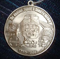 ATSF Commemorative 1868-1995 Medal given to employees Christmas 1995