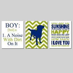 You Are My Sunshine Trio  Set of Three 8x10 Nursery by Tessyla, $55.00